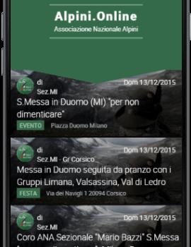 Nuova app della sezione Alpini di Milano